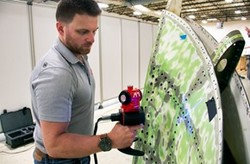 API iScan3D in action: iScan3D ergonomics provide both scanning and tactile measurements (Image: API)