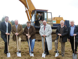 Stakeholers at ground-breaking ceremony