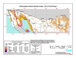 Wind speeds in Northern Mexico