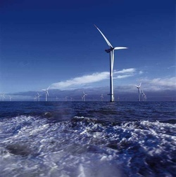 Offshore wind farms with 5 MW or more