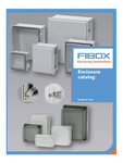 Fibox Inc: FIBOX OFFERS NEW 184-PAGE 4.1 US ENCLOSURE CATALOG