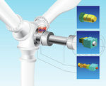 Modular rotor locks for on-shore and off-shore wind turbines